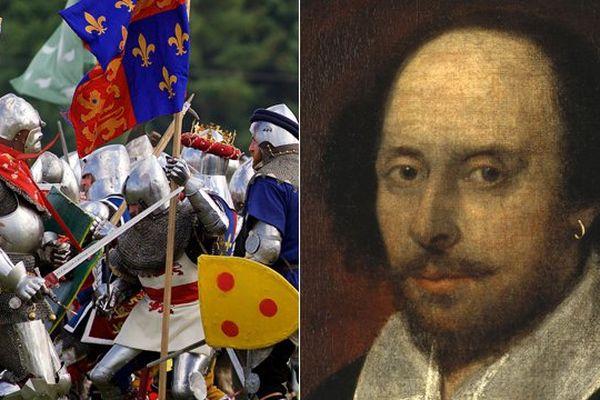 William Shakespeare a donné une dimension mythologique à la bataille d'Azincourt.