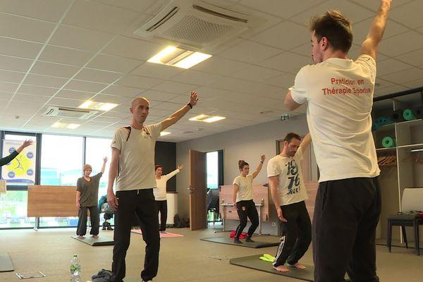 Une séance de thérapie sportive à Toulouse.