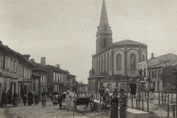 Le village de Caraman il y a un siècle