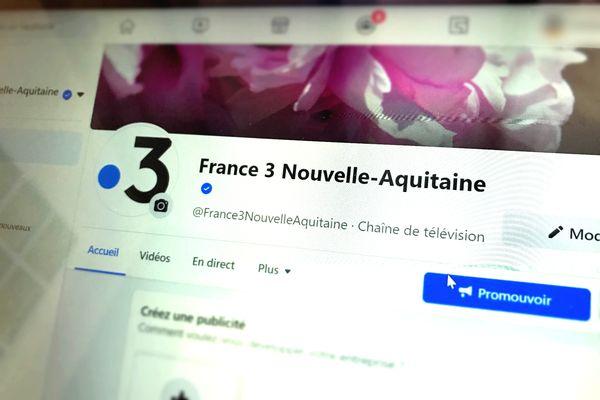 Page d'accueil Facebook France 3 Nouvelle-Aquitaine