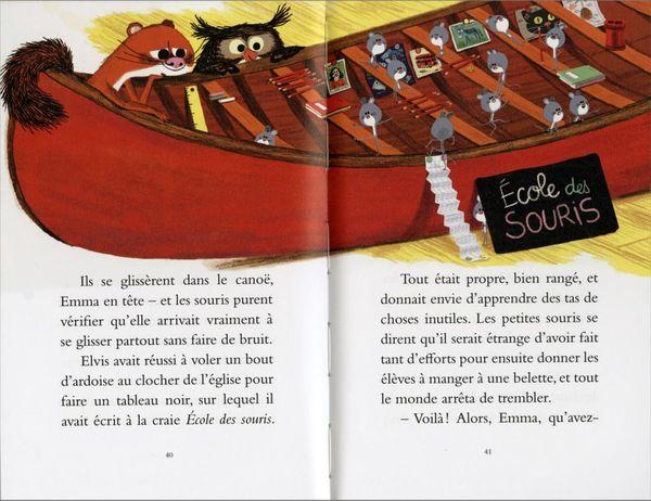 L'école des souris, une rentrée en canoë d'Agnès Mathieu-Daudé et Marc Boutavant