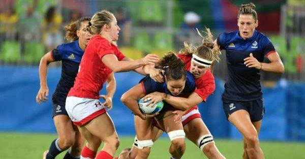 L'équipe de France féminine de rugby à 7 s'incline 15-5 face au Canada en quart de finale - 7 août 2016