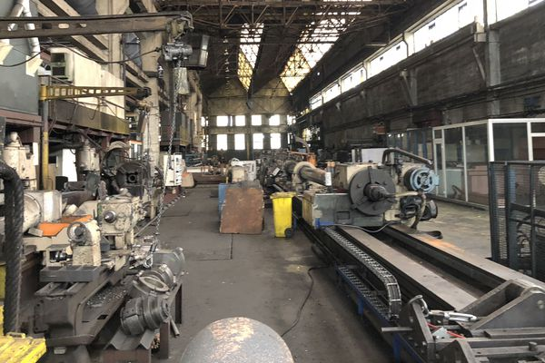 L'usine est à l'abandon