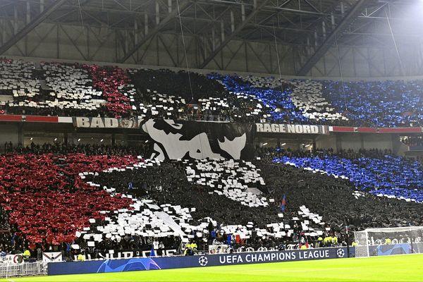 Le 19 février prochain, le stade sera à priori exclusivement en faveur de l'OL...hormis le parcage réservé aux supporters du FCB