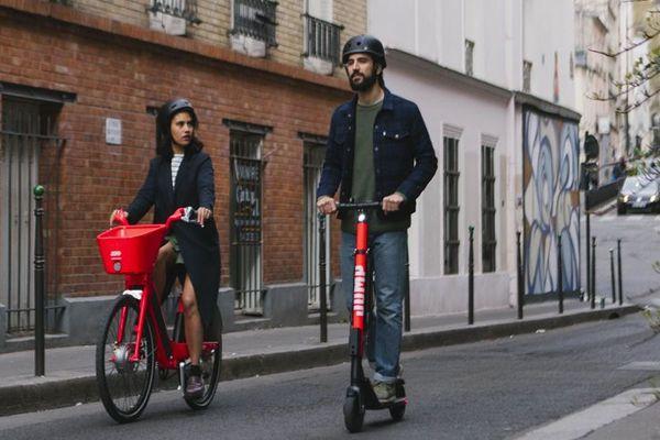 Le service de vélos et trottinettes en free floating Jump est lancé à Paris à partir du jeudi 11 avril.