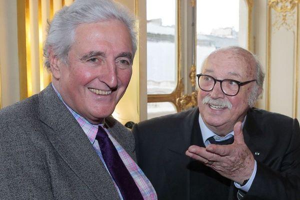 Jean-Loup Dabadie et Jean Becker ici en mars 2015.