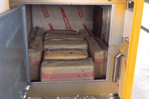 Des appareils électriques factices renfermaient des sacs remplis de cannabis.