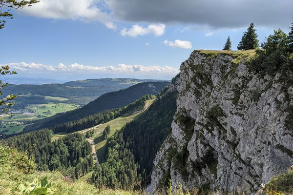 Sur les crêtes du Mont d'Or dans le Haut-Doubs.