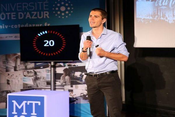 Bertrand Cochard, 25 ans, représentera la Côte d'Azur en finale nationale du concours Ma Thèse en 180 secondes, fin mai, à Bordeaux