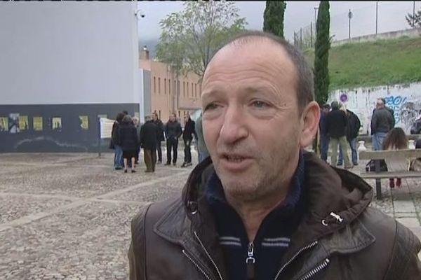 Claude Cesari , Corsica Libera, à Corte le 17 novembre 2013