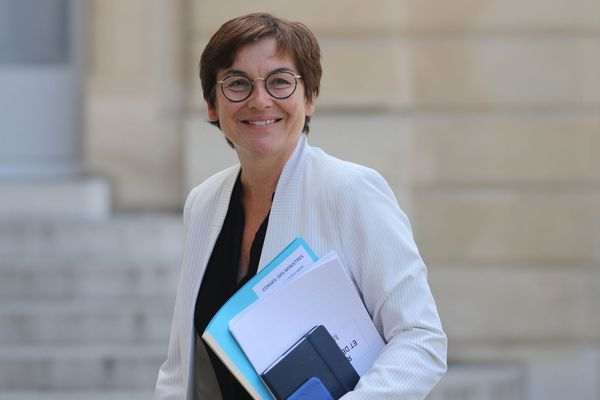 La nouvelle ministre de la Mer, Annick Girardin à son arrivée à l'Elysée le 7 juillet 2020.