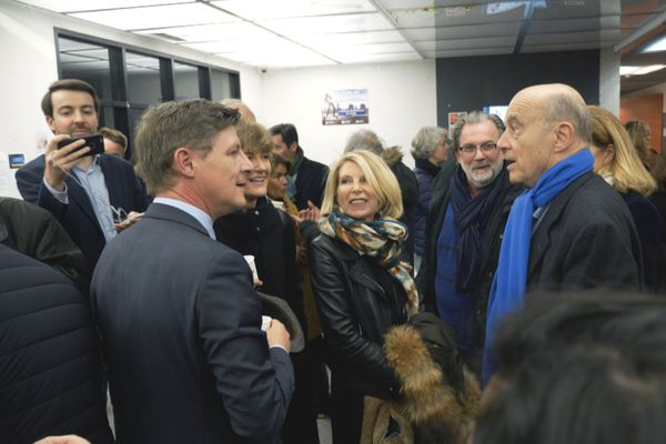 Alain Juppé, soutien de campagne de Nicolas Florian