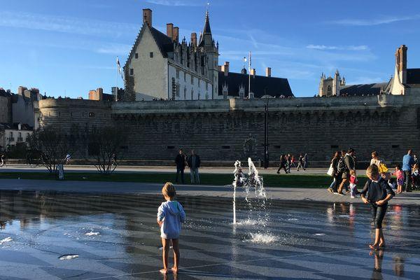 Le miroir d'eau à Nantes, le 6 octobre 2017