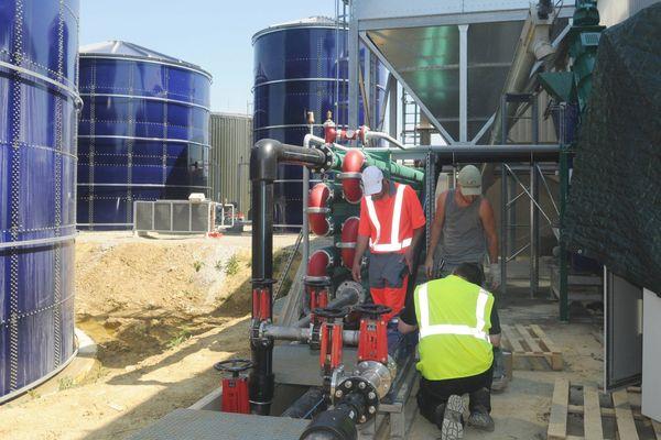 Usine de méthanisation à Auch en cours de construction - juin 2013