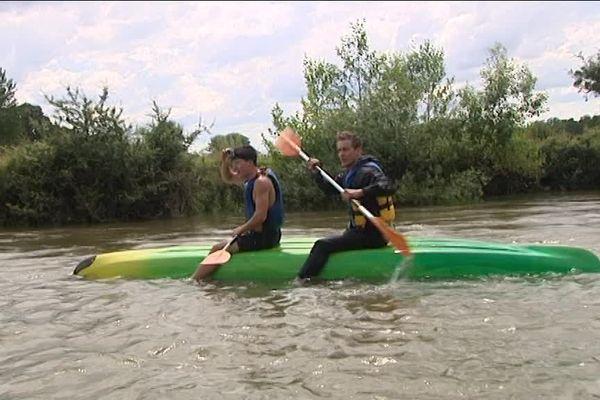 En kayak sur l'Ognon