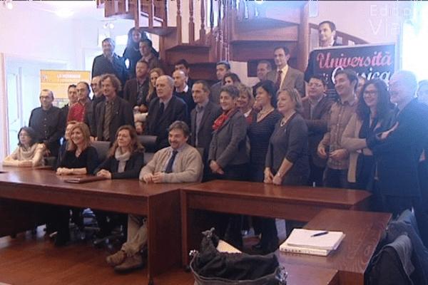 Université de Corte, le 27 janvier 2014