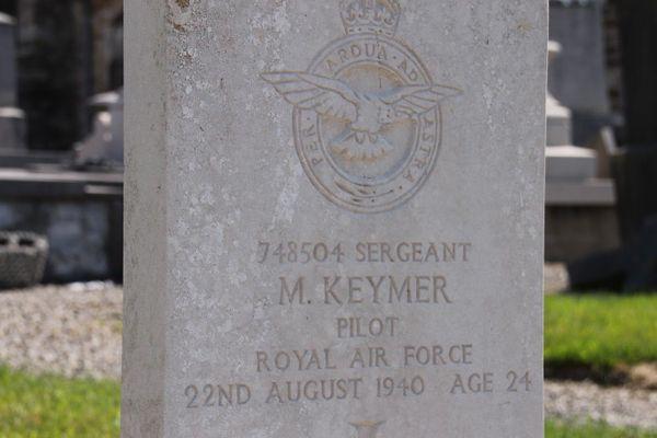 Michael Keymer, enterré à Bazinghen, est décédé le 22 août 1940, à l'âge de 24 ans.