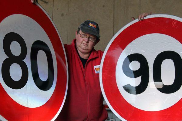 Le 80 km / h réservé à 3 départementales à titre d'expérience.
