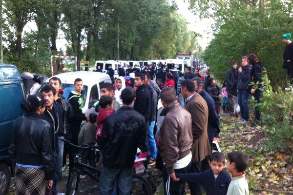 Evacuation camp roms dans le Nord de la France