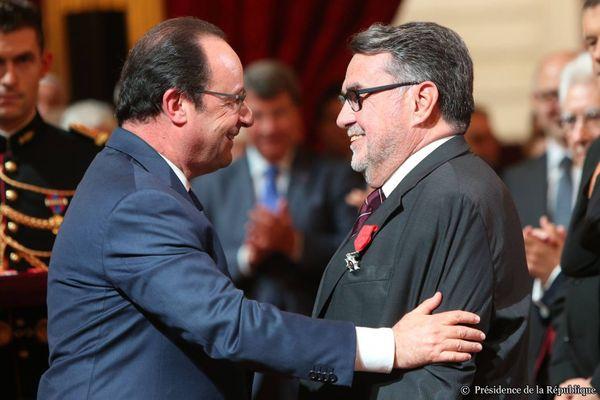 François Hollande et Jean-Pierre Michel