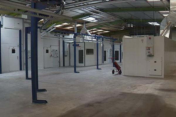 Une partie des locaux de l'entreprise Bati Rénov à Varaize en Charente-Maritime
