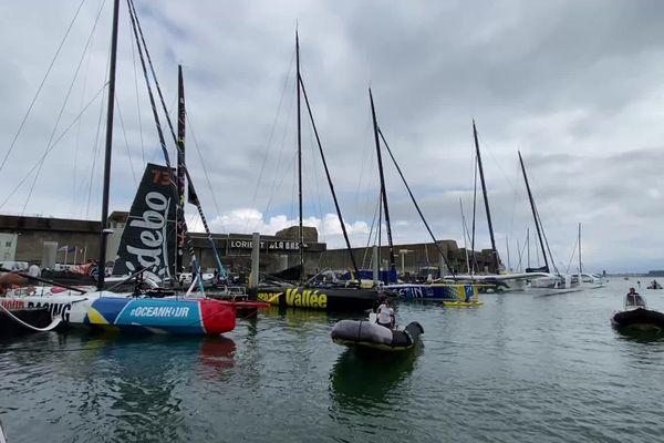 Les Imoca à Lorient, septembre 2021
