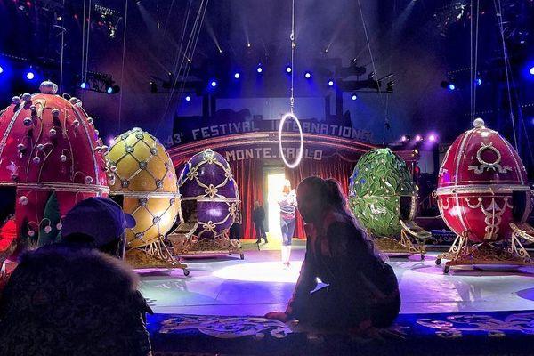 Répétition du Royal Circus de Russie le 13 janvier au chapiteau de Fontvieille.