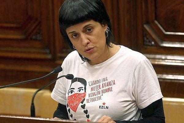 Anna Gabriel - ex-porte-parole du groupe parlementaire de la CUP (Candidature d'unité populaire, extrême gauche indépendantiste) - archives