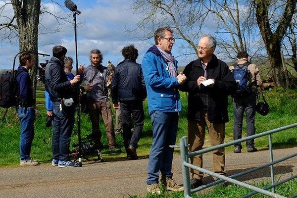 """Sur le tournage du """"Monde de Jamy"""" au Rocher des Aigles de Rocamadour"""