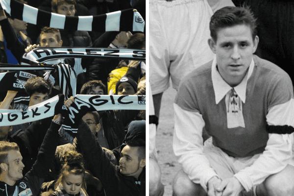 """Chez les supporters du SCO, la question """"tu vas à Jean-Bouin ce weekend?"""" risque d'être bientôt erronée : le stade pourrait prendre le nom de Raymond Kopa, figure historique du football français formé à Angers."""