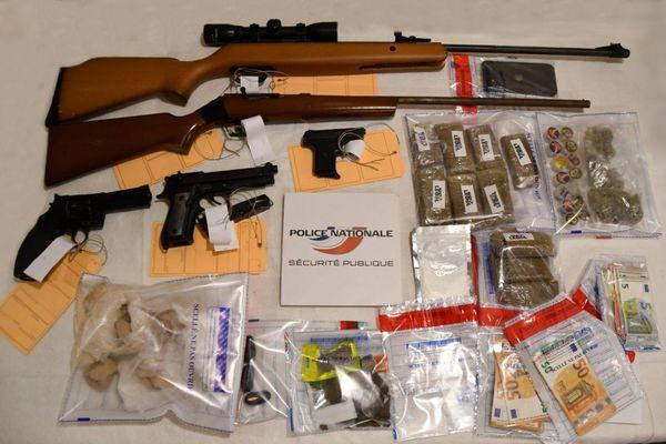 L'impressionnante saisie de drogues et d'armes effectuée par le forces de l'ordre à l'occasion du démantèlement d'un trafic sur Limoges