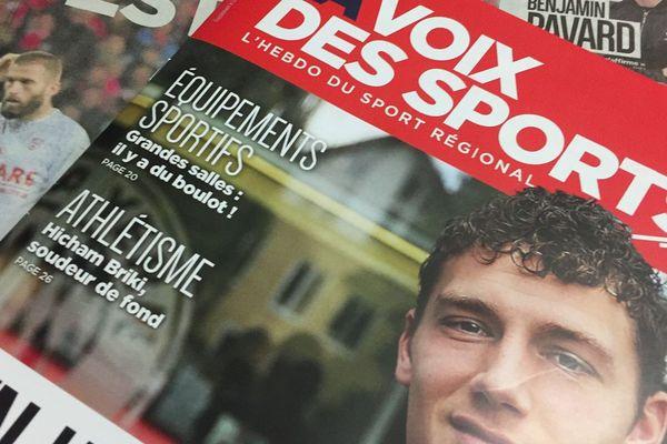 """La """"une"""" du nouveau magazine """"La Voix des sports"""""""