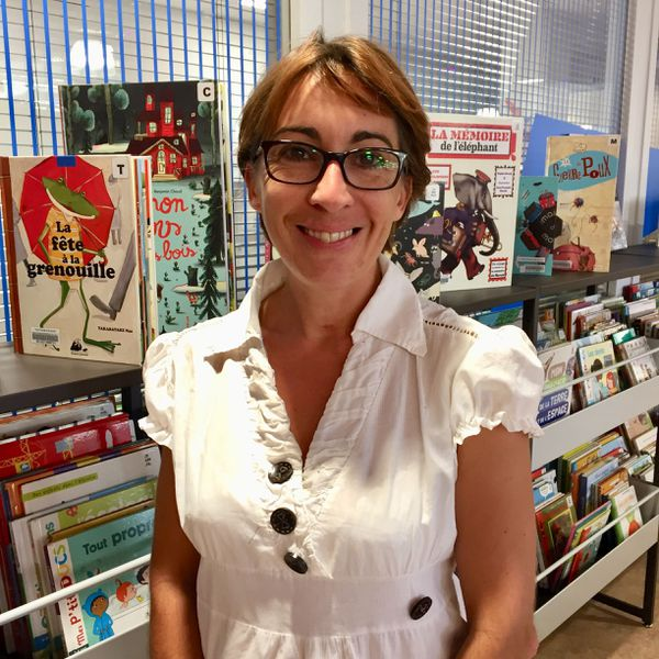 La bibliothécaire Céline Belin