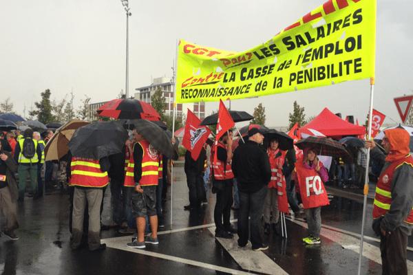 Parmi les manifestants beaucoup de salariés des ACC
