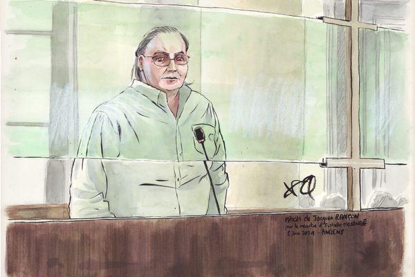 Jacques Rançon dans le box des accusés - Cour d'assises de la Somme mardi 8 juin 2021