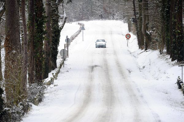 La neige en Sarthe en février 2012