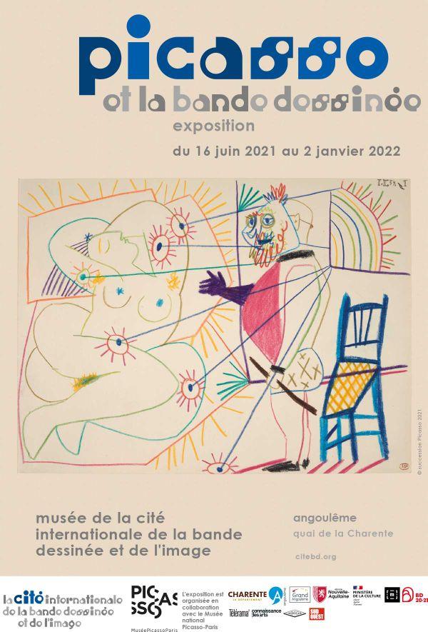Affiche exposition Picasso au festival de la BD à Angoulême