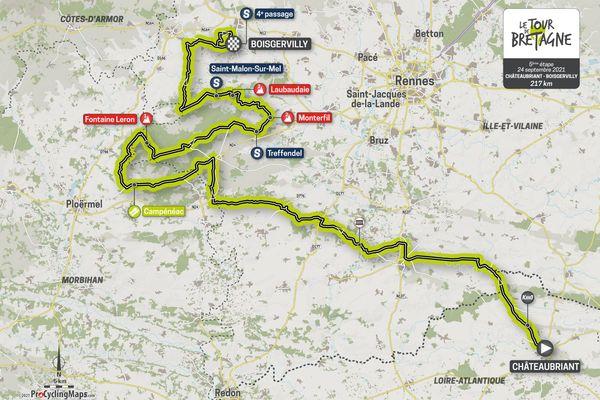 Parcours de la cinquième étape du Tour de Bretagne 2021