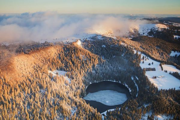Le lac vert vu d'ULM