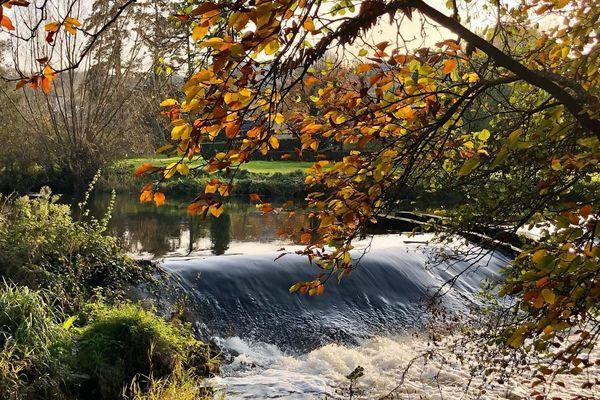 Le Léguer avec son habit d'automne