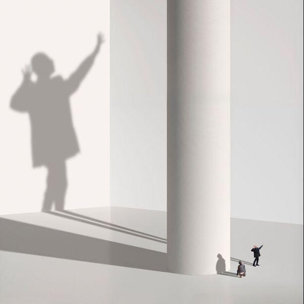 """L'Ombre, composition de Muriel Bordier pour sa série """"Espaces Muséaux"""""""