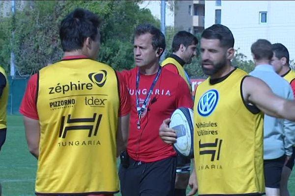 Les Toulonnais à l'entraînement avant le départ pour l'Italie.