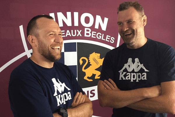 Rory Teague, nouveau manager de l'UBB, et Jeremy Davidson (illustration/ juin 2017)