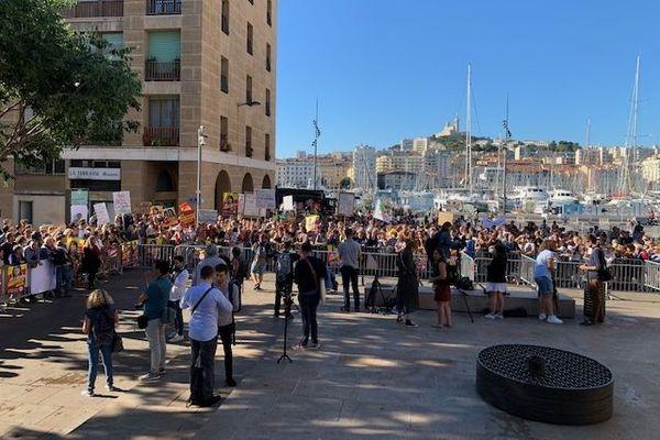 Les militants du Printemps Marseillais étaient nombreux ce samedi pour soutenir leurs élus lors de ce 3e touir des municipales.