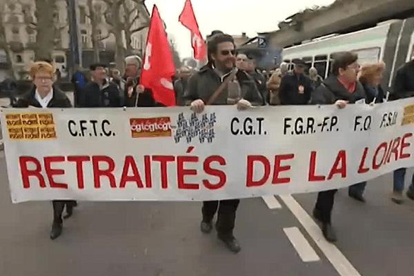Les retraités manifestent à Saint-Etienne - 17/3/15