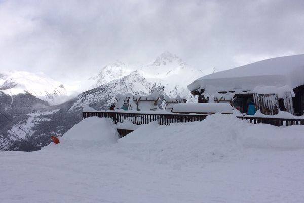 A la Norma en Savoie, d'importants cumuls de neige ont été enregistrés