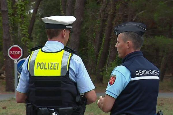 Un policier allemand est venu renforcer les effectifs dans le cadre de la coopération européenne.
