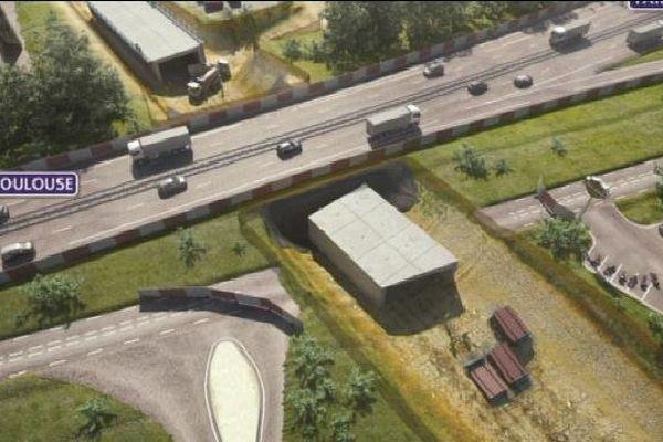 La mise en service de ce tunnel de franchissement de l'A20 est prévue pour début 2016.