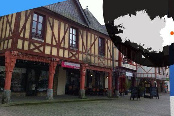 Des maisons à pans de bois, à la Guerche-de-Bretagne