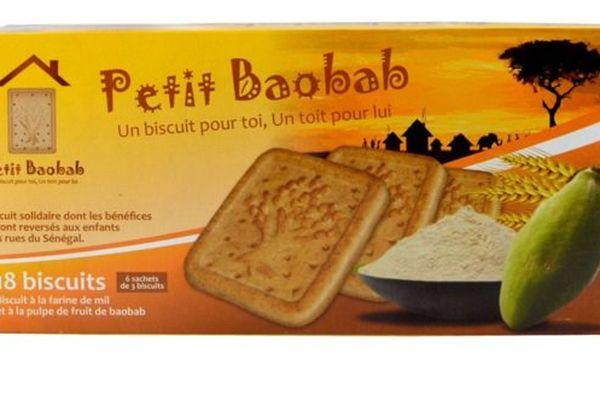 "Une boîte de biscuits ""Petit Baobab""."